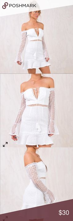 96185a86f339 Princess Polly Love Potion  9 Dress Off shoulder Bardot dress with straight  neckline