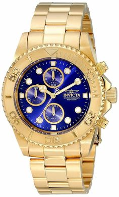 Always on a mission to advance and perfect, INVICTA focuses on surpassing industry expectation. Plunge into any horizon using the steadfast guidance of the INVICTA Pro Diver. 18k Gold Bracelet, Crystal Bracelets, Bracelet Watch, Invicta Pro Diver Chronograph, Brown Leather Watch, Gold Style, Stainless Steel Case, Bracelets For Men, Gold Watch