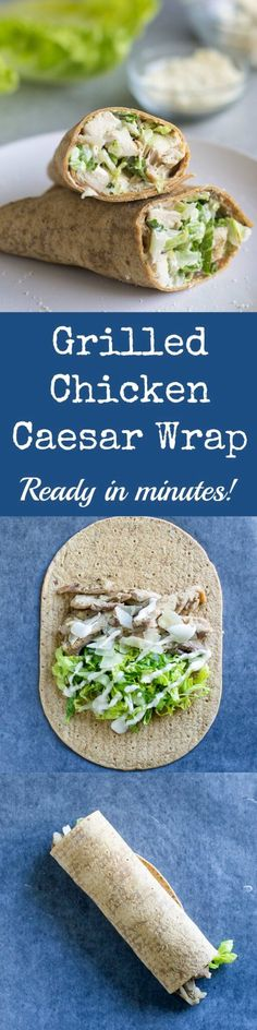 For an easy, protein-packed lunch, pack a Grilled Chicken Caesar Wrap! Rediscover all your favorite Caesar Salad flavors in sandwich form. #ad