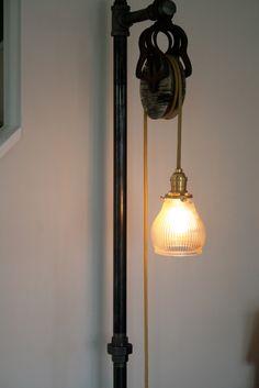 Vintage Industrial Floor Lamp. $345.00, via Etsy.