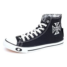 West Coast Choppers Shoes Warrior Low Tops, Farbe:Black, Größe:45