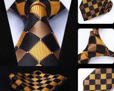 Luxusná kravatová sada - kravata a vreckovka so vzorom v žltej Tie, Accessories, Fashion, Moda, La Mode, Cravat Tie, Fasion, Ties, Fashion Models