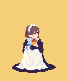 Girls Characters, Anime Characters, Simple Anime, Anime Maid, Character And Setting, Cute Anime Pics, Anime Scenery, Anime Figures, Character Design Inspiration
