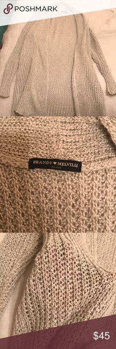 Brandy Melville cable knit cardigan Brandy Melville cable knit cardigan. Barely worn!! Brandy Melville Sweaters Cardigans