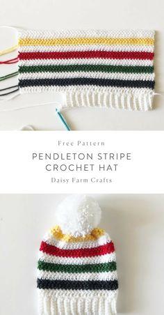 Free Pattern - Pendleton Stripe Crochet Hat