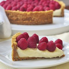 Old Fashioned Raspberry Custard Pie - a very old family recipe that's perfect to top with the season's best berries and fruits.