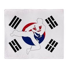 Taekwondo Throw Blanket > Tae Kwon Do Man TShirts Apparel > CJ Martial Arts