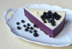 NON-baked blueberry cheesecake. Chesee Cake, No Bake Blueberry Cheesecake, Agar, Food And Drink, Desserts, Fit, Mascarpone, Tailgate Desserts, Deserts