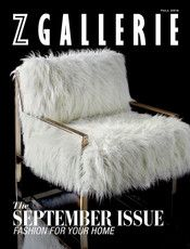 Z Gallerie - September Issue - Sapphire Conduit 1 - Silver Frame (Shown) - Silver Frame (Shown)