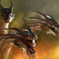 Development of the Legendary Monsterverse King Ghidorah Titan in ZBrush. Some renders in Keyshot. Fantasy Monster, Monster Art, King Kong, Dragon Tattoo Sketch, Godzilla Franchise, Rukia Bleach, All Godzilla Monsters, Godzilla Wallpaper, Ship Drawing