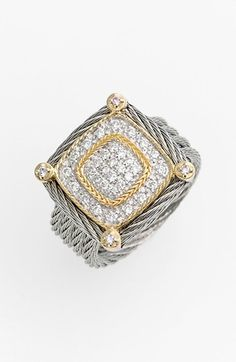 Charriol® 'Classique' Pavé Diamond Cocktail Ring available at #Nordstrom