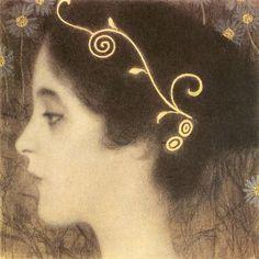 "Sketch for the Allegory ""Junius"" (detail), Klimt, 1896"