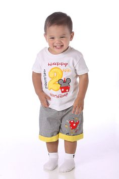 Mickey Mouse Birthday Shirt  Personalized by Littlemistysboutique This  is so going to be Breck's birthday outfit!