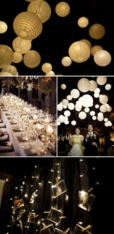 release paper lanterns at end of reception