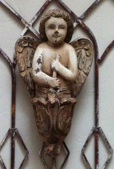 Vintage wood carved Angel.