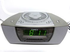 Timex T608T Stereo Dual Alarm Clock Radio with Nature Sounds - Nice Condition