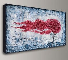Acrylic painting abstract Textured impasto large by baronvisi