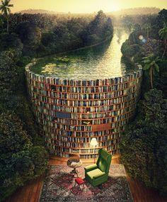 Bible Dam (Jacek Yerka) by Bruno Bruschi, via Behance