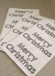 12 adesivi di Natale Merry Christmas di pescaefragola su Etsy, €2.00