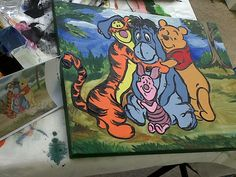 Winnie The Pooh art canvas painting