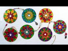 DIY - Mandala com CD - Mandala with CD - YouTube