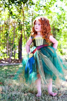 Brave Merida Inspired Tutu Dress Costume Infant to Girls