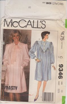 McCall's 9346 Sewing Pattern Size 10  Maternity by n2Imaginations (Craft Supplies & Tools, Patterns & Tutorials, dress, maternity, wardrobe, mother, scarf, yoke, pleats, gathered, sleeves, cap, tunic, vintage, pockets)