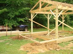 Building a cabin yourself is much more economical than buying a prefab storage shed. The cost of materials for this build, including doors and windows, was around. Building A Small Cabin, Building A Shed, Building Plans, Building Ideas, Deck Plans, Shed Plans, Pergola Plans, Diy Pergola, Cabin Plans