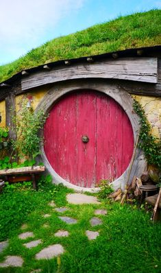 This specific door design is from the movie Hobbit. Seeing this door immediately takes to you a mythical world of magic