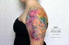 Paradise - Aquarell Tattoo