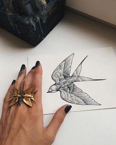 Bird by sashatattooing