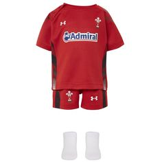 62bc212e08c Under Armour Infant Wales Home Rugby Kit 2013-15 Red and White - £30.00