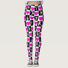 PRETTY PINK AND BLACK HEART GYMNASTICS LEGGINGSYour Gymnast will dazzle, sparkle and shine in these stylish and one of a kind Gymnastics leggings. http://www.zazzle.com/collections/gymnastics_leggings-119067330571003319?rf=238246180177746410 #Gymnastics #Gymnast #WomensGymnastics #Gymnastleggings #Gymnasticsleggings #Lovegymnastics