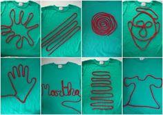 Vingerhaken en je eigen t shirt maken T Shirts, Craft Work, Pattern, Woman Clothing, Pregnancy Planning Resources, Tee Shirts, Chemises, Tee, Tees