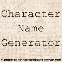 Character Name Generator, complete with MBTI typing. FANTASTIC website.