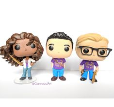 Funko versions made by me, of Hazel, Frank (with bow and quiver on back) and Jason! #spqr #custom #funko #pop #customfunkopop #percyjackson #customfunko #custompop #funkopop #funkopopvinyl #popvinyl #hazellevesque #jasongrace #frankzhang
