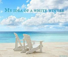 I'm dreaming of a white winter!