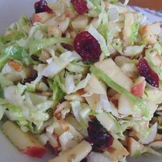 "Chopped Brussels Sprout Salad | ""This was very good! I did add more honey to the dressing."""