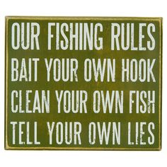 Funny Fishing Rules Sign