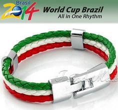 World Cup 2014 Leather Bracelet - Italy