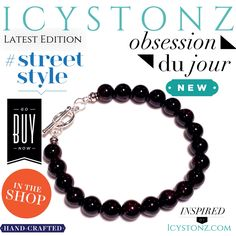 •New In The Shop• Say what's up to the #RubyWarrior #Mens #Bracelet by #ICYstonz #Designer of #Fine #Fashion #Jewelry