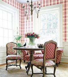 This bold red and white gingham is actually very country and charming.