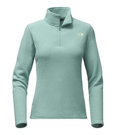 The North Face Womens Glacier 14 Zip PulloverSmallTrellis Green >>> You can get additional details at the image link.