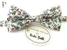 White floral bow tie - Groom fashion accessories (*Amazon Partner-Link)