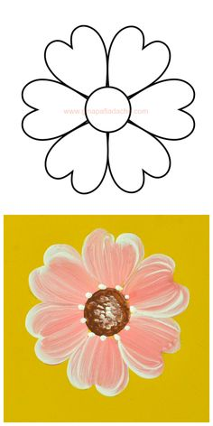 Videos teach flower painting (Spanish)
