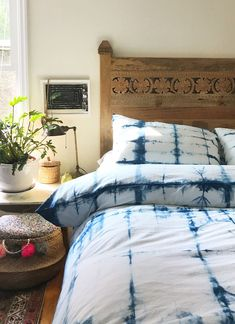Hand dyed on 100% cotton this shibori dyed duvet cover would look great on & 78 best Beautiful Bedroom Ideas images on Pinterest in 2018 ...