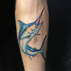 Realistic color marlin fish by the main man Frank Jesus Tattoo, Tattoo You, Arm Tattoo, Ocean Tattoos, Fish Tattoos, Tatoos, Small Tattoos, Tattoos For Guys, Cool Tattoos