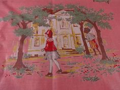 Vintage Cotton Novelty Fabric The Little by littlebitvintage2, $34.00