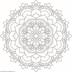 Flower Mandala Coloring Pages Coloring Book Art, Doodle Coloring, Disney Coloring Pages, Mandala Coloring Pages, Colouring Pages, Mandala Pattern, Mandala Design, Craft Patterns, Quilt Patterns