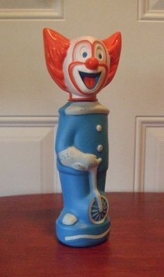 Bozo the clown soaky toy by johnrechul on Etsy, $12.50